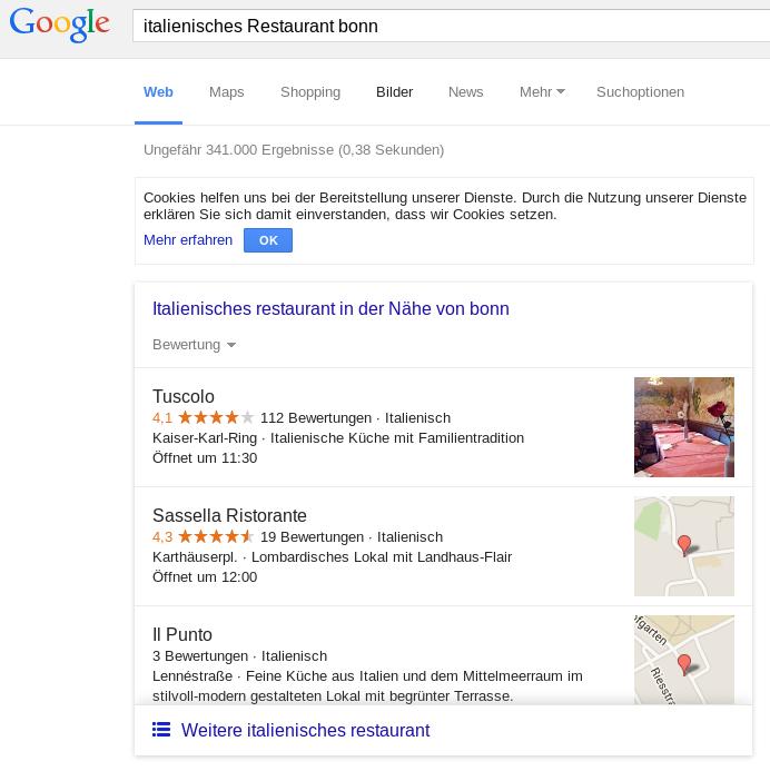 Google MyBusiness im Ranking